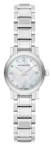 Burberry NWT Women's Mother of Pearl Diamond Stainless Ladies Watch BU9224