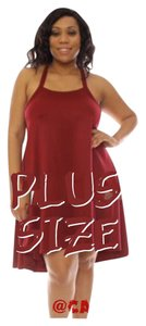 Other short dress Burgundy Curvy Plus Size Lane Bryant Romans Sexy on Tradesy
