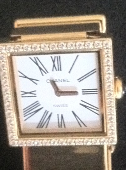 Chanel Vintage CHANEL 18K Yellow Gold and Diamond Mademoiselle watch