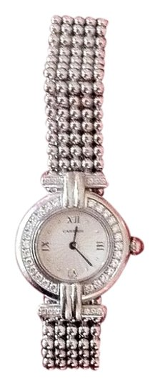 Cartier Vintage Cartier 18K White Gold with Diamond Case and Lugs