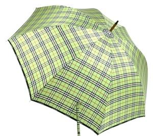 Burberry New Authentic Burberry Classic Walking Umbrella in Green Check