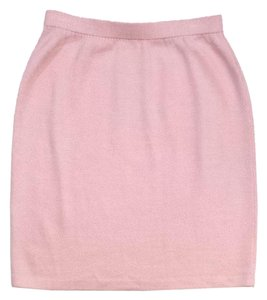 St. John Light Pink Knit Skirt