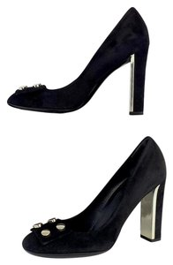 Gucci Black Suede Pumps