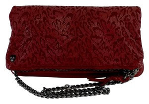 Zadig & Voltaire Cranberry Leather Leopard Shoulder Bag