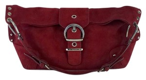 Stuart Weitzman Burgundy Suede Shoulder Bag