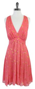 Nicole Miller short dress Pink Gold Silver Polka Dot on Tradesy