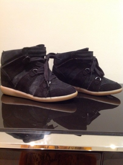 Isabel Marant Leather BLACK & DARK GREEN Boots