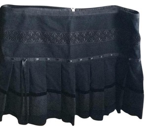 Sportmax Mini Skirt BLACK CORDUROY VELVET