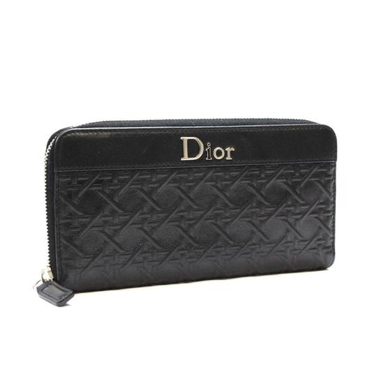 Christian Dior New Dior Black Leather Zippered Wallet