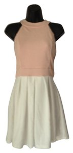 Max and Cleo short dress Cream and Pink on Tradesy