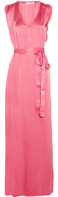 Item - Pink Couture Silk Satin Long Night Out Dress Size 4 (S)