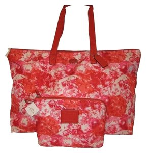 Coach PINK MULTI FLORAL Travel Bag