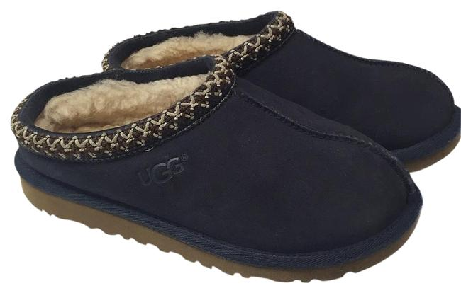 Item - Navy 2 Mules/Slides Size US 4 Regular (M, B)