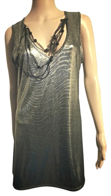 Bisou Bisou Large Silver Necklace Dress