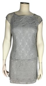 Laundry by Shelli Segal short dress Gray Two-piece Skirt/top Lace on Tradesy