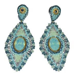 Miguel Ases Authentic Miguel Ases Aqua Green Prehnite Drop Earrings 14k Gold Fill