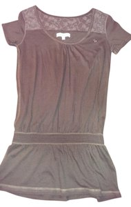 Abercrombie & Fitch Ambercrombie Lace Briwn T Shirt rich brown