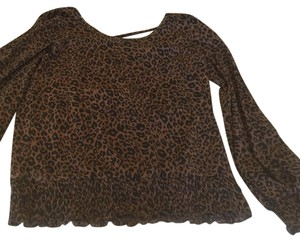 MICHAEL Michael Kors Top Brown&black