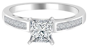 Avi and Co 1.51 cttw EGL Certified Princess Cut Diamond Engagement Ring 14K White Gold