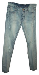 puzzel Straight Leg Jeans-Light Wash
