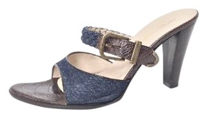 Sergio Rossi Denim / Brown Sandals