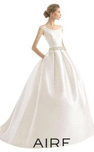 Aire Barcelona Natural Mikado Riaz Traditional Wedding Dress Size ...