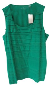 Chico's Ribbed New Top Green