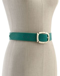 White House | Black Market Reversible Snake-Embossed Leather/Shiny Patent Belt XS