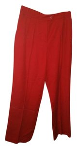 Escada Straight Pants Red