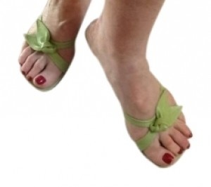 Etienne Aigner Sexy Apple green Sandals