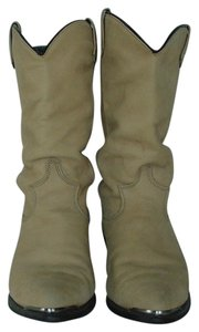 Dingo Suede Cowboy Leather Western Buckskin Tan Boots