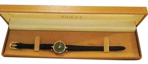 Gucci Gucci Ladies Black/Gold Color Watch With Box