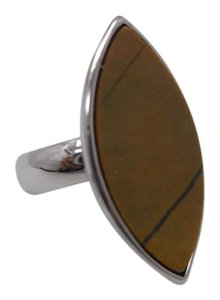 Other Tigers Eye Gemstone in 316L Stainless Steel Size 6 w Free Shipping