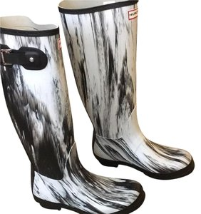 Hunter Black and white Boots