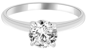 Avi and Co 1.22 ct H-I/SI Round Diamond Solitaire Engagement Ring 14K White Gold