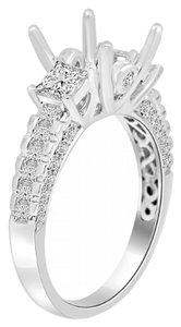 Avi and Co 1.75 cttw Princess & Round Cut Diamond Engagement Semi-Mounting 18K White Gold