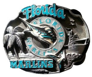 SISKIYOU BUCKLE COMPANY Vintage Limited Edition Florida Marlins Pewter Belt Buckle