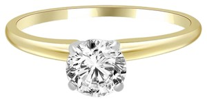 Avi and Co 1.27 ct H-I/SI Round Diamond Solitaire Engagement Ring 14k Yellow Gold