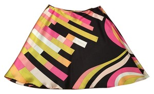 Emilio Pucci Skirt Multi color with black background