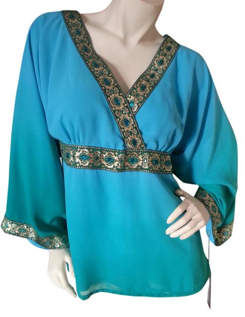 Preload https://item4.tradesy.com/images/diane-gilman-teal-and-green-tunic-size-2-xs-1516318-0-0.jpg?width=400&height=650