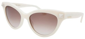 Valentino Valention Ivory Rockstud Sunglasses