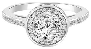 Avi and Co 1.91 cttw Round Brilliant Cut Diamond Halo Engagement Ring 14K White Gold