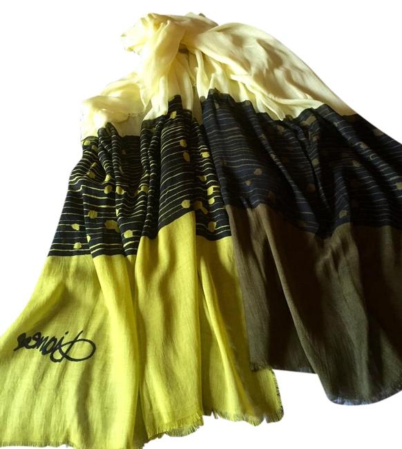 Item - Yellow Green Brown Scarf/Wrap