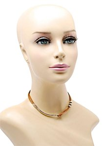 Sterling Silver/Tan Leather Cord Choker Necklace w/Simple Hook+Bead - 14.5