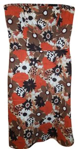 Ann Taylor LOFT short dress Size 10 Flowers Strapless on Tradesy