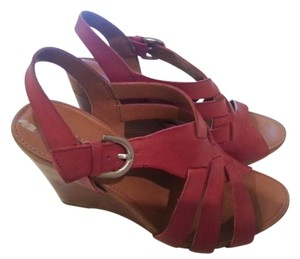 Franco Sarto Wedge Dressy Red Sandals