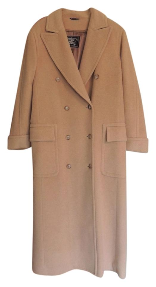 605a3cd07060 Burberry Camel Hair Winter Full Length Ladies Womens Camel Hair Warm Cuffs  Lined Designer Vintage Vintage ...