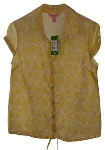 Lilly Pulitzer Top Sunshine Yel Upscale