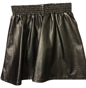 BCBGeneration Bcbg Bcbg Xxs Pleather Mini Skirt Black