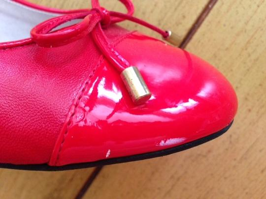 Topshop bright Christmas red Pumps